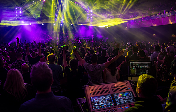 Avolites Sapphire Touch with Titan effects helps Stage Production Co smash it at Gatecrasher