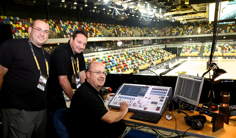 Avolites Tiger Touch II controls play lighting at Invictus Games