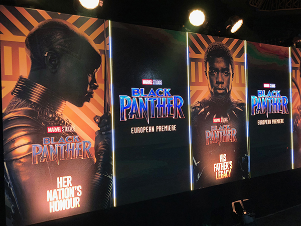 Avolites Titan and Ai power Black Panther European Première