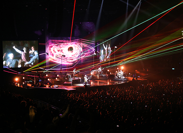 The Script Tour with stunning, complex visuals powered by Avolites Ai and Titan