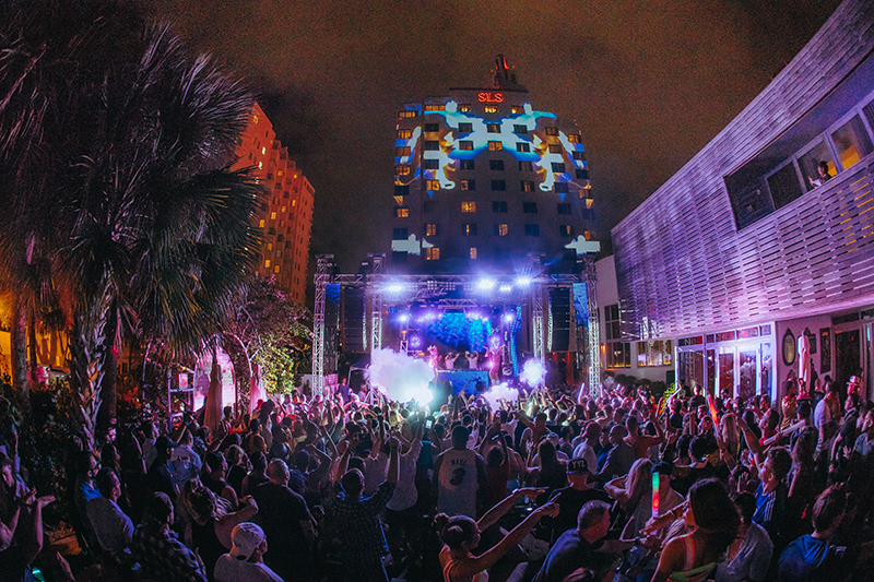 SLS Hotel transformed with Multimedia Spectacular Supported by Ai Media Server at Miami Week
