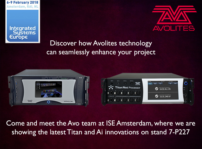 Avolites will be returning to ISE on stand 7-P227