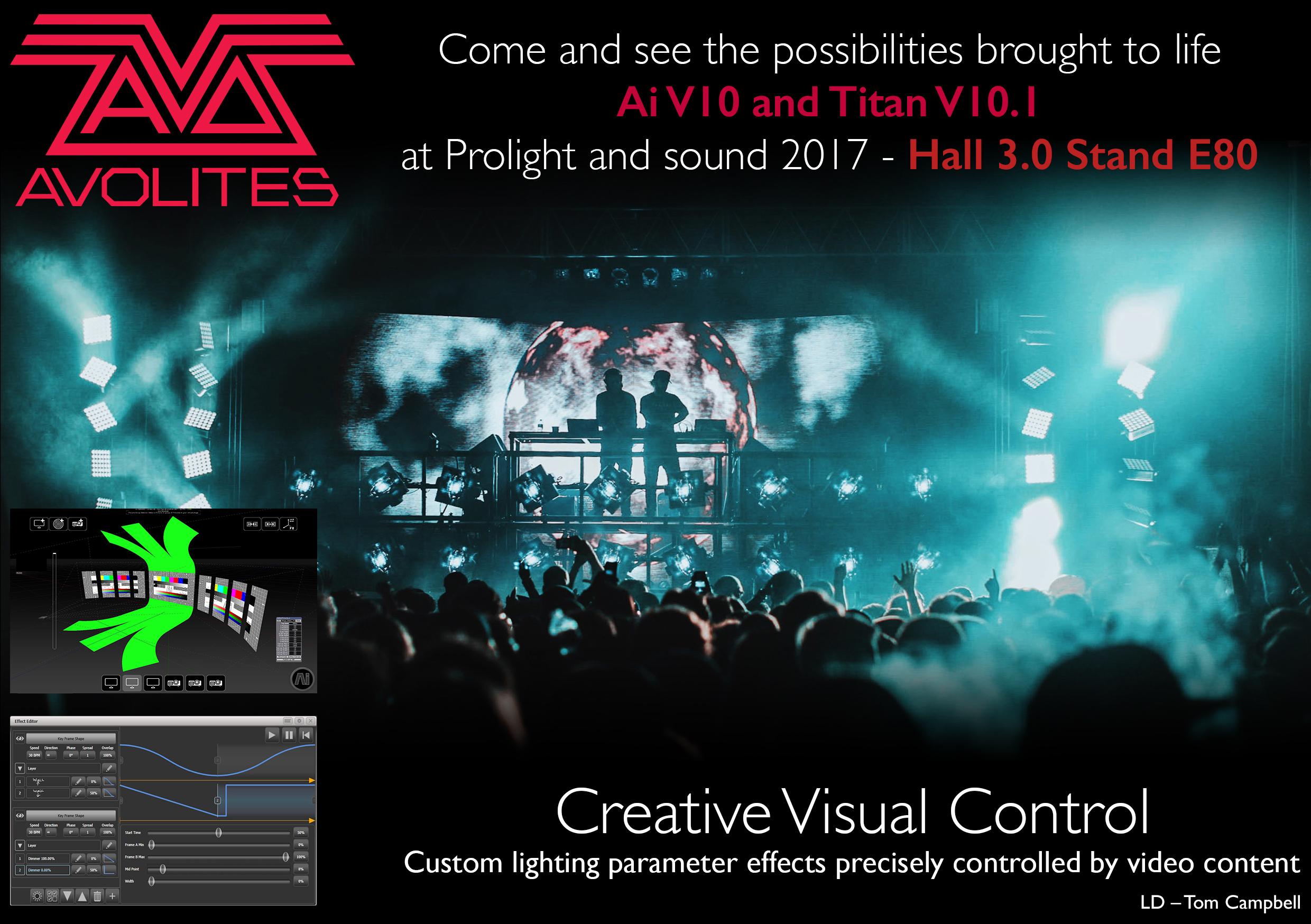 Avolites to showcase trailblazing lighting and video integration at Prolight + Sound 2017